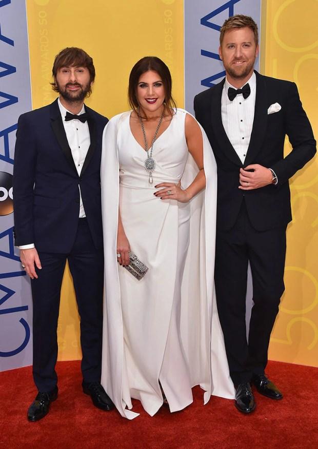 Dave Haywood, Hillary Scott, Charles Kelley, 2016 CMA Awards
