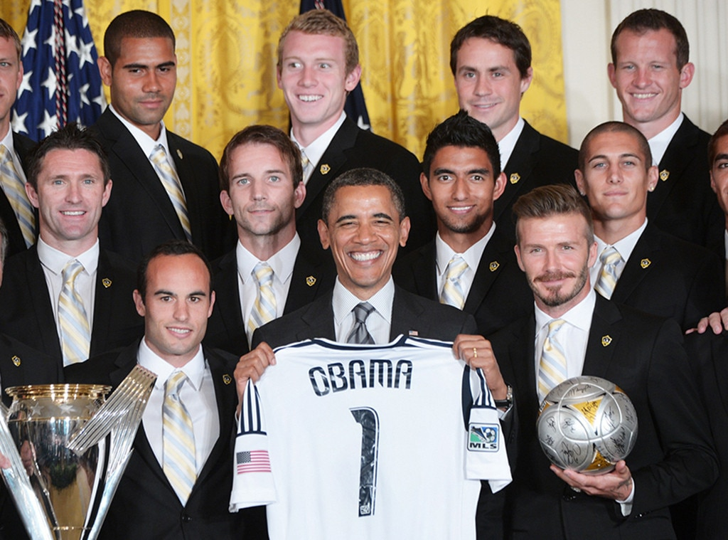 Celebs With Obama, Barack Obama, David Beckham