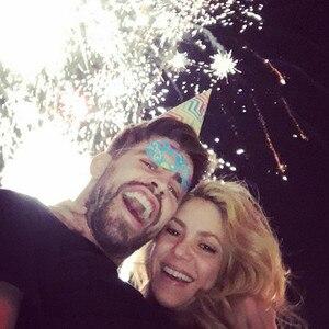 Shakira, Gerard Pique, New Year's Eve 2015