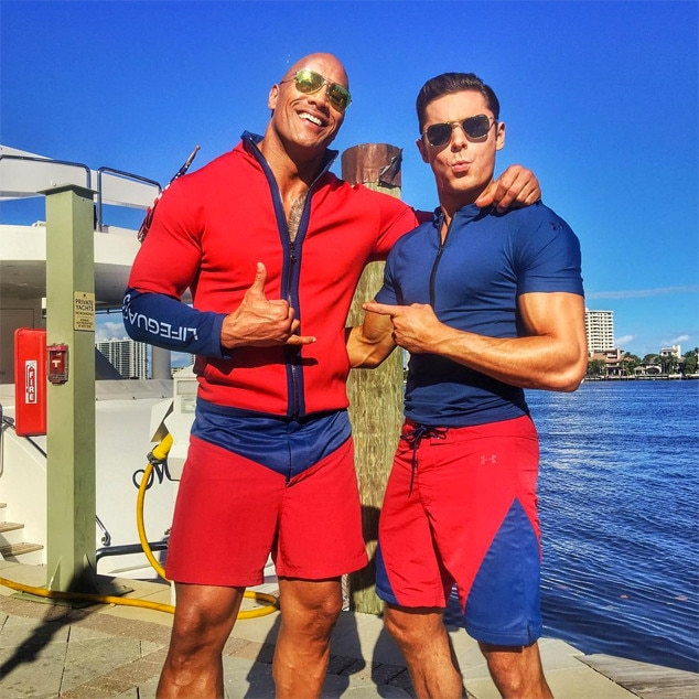 Image result for dwayne johnson and zac efron