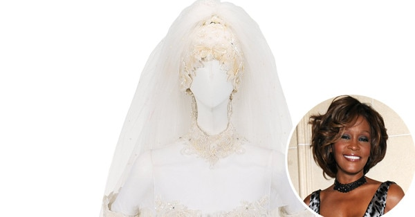 Whitney Houston's $40,000 Wedding Dress And Other Personal