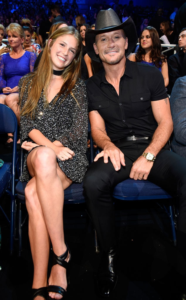 Tim McGraw Brought His Teenage Daughter Maggie As His Date