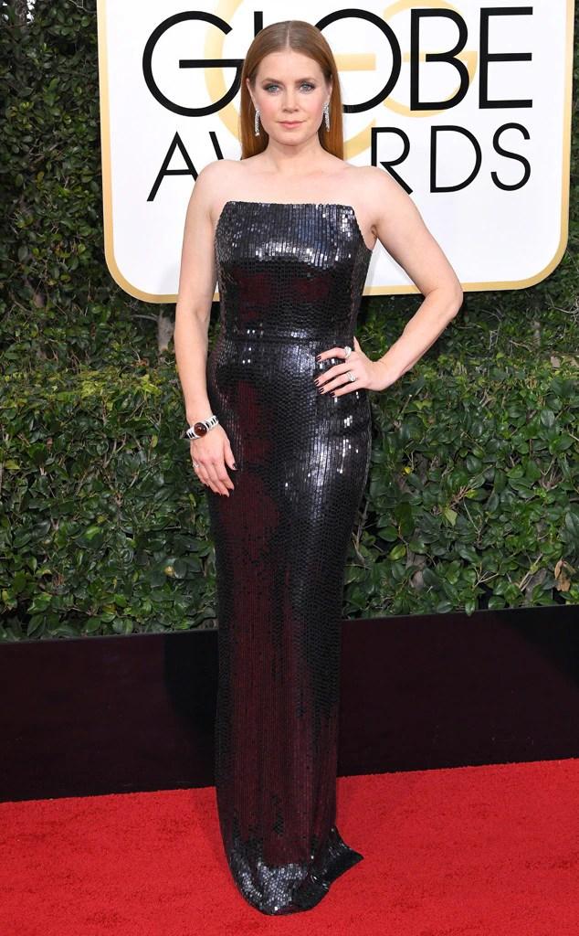 2017 Golden Globes Red Carpet Arrivals Amy Adams, 2017 Golden Globes, Arrivals