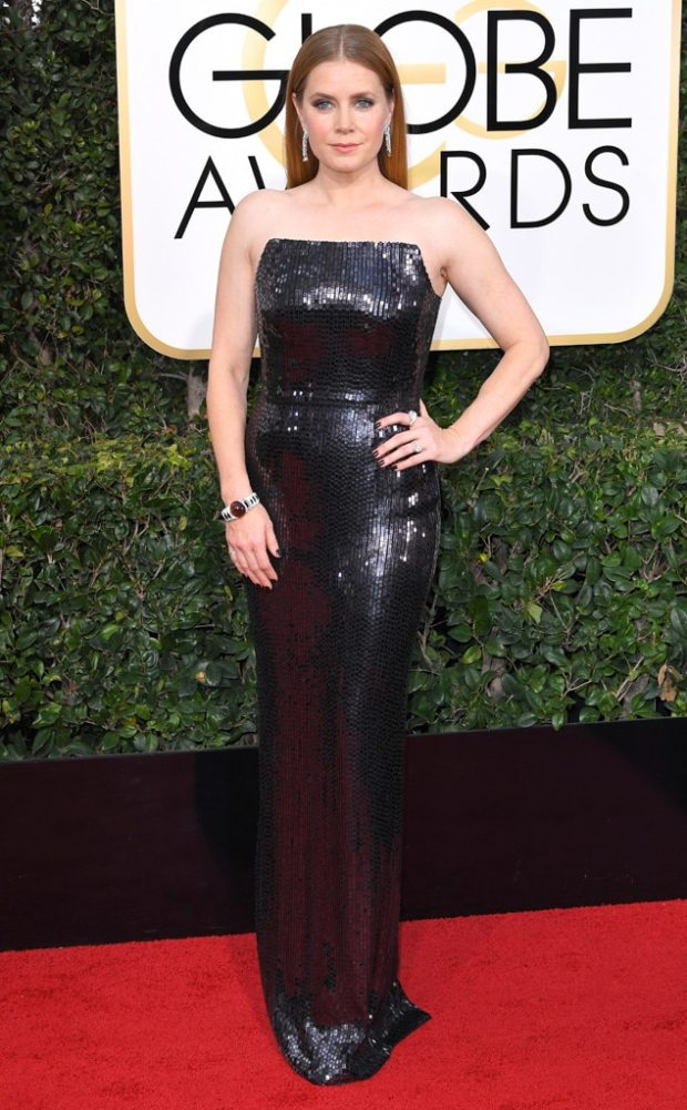 2017 Golden Globes Red Carpet Arrivals Amy Adams, 2017 Golden Globes, Arrivals