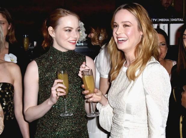 Emma Stone, Brie Larson, Oscar Party