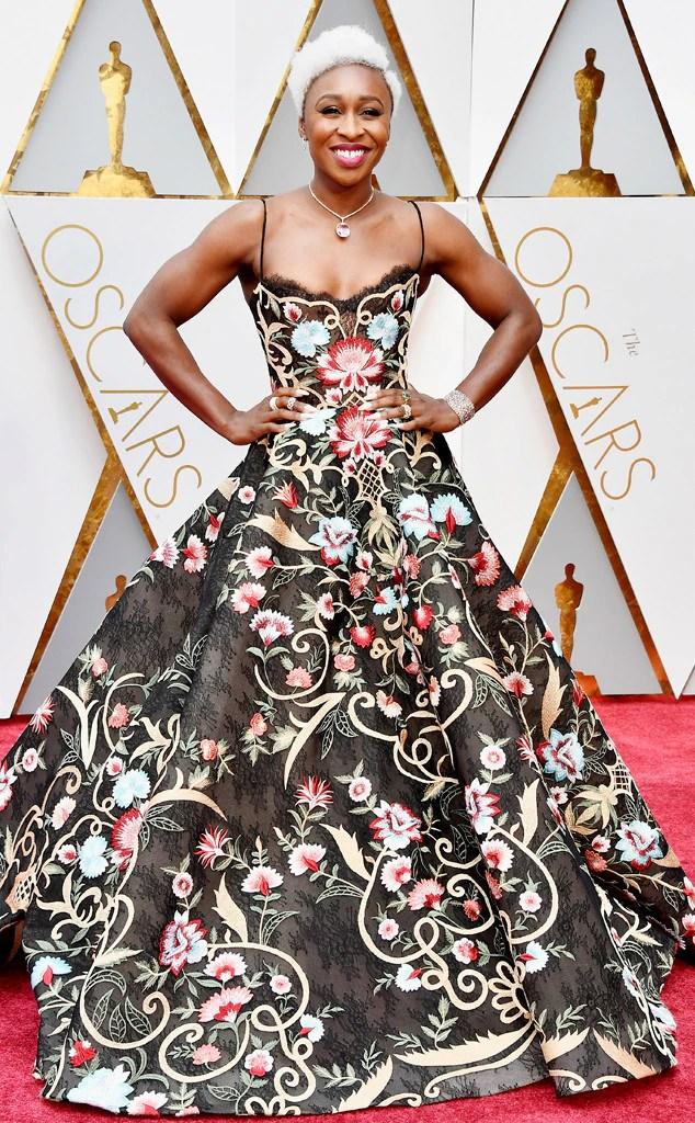 Oscars 2017 Red Carpet Arrivals Cynthia Erivo, 2017 Oscars, Academy Awards, Arrivals