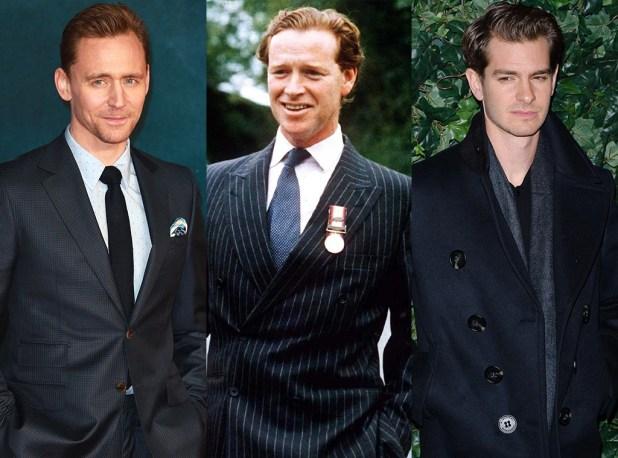 Feud: Charles and Diana, Tom Hiddleston, James Hewitt, Andrew Garfield