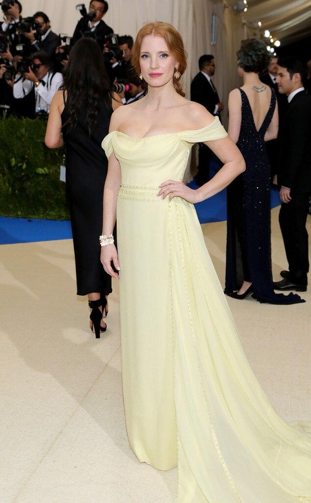 Jessica Chastain 2017 met ball, 2017 met gala, metball, metgala, red carpet, best and worst dressed