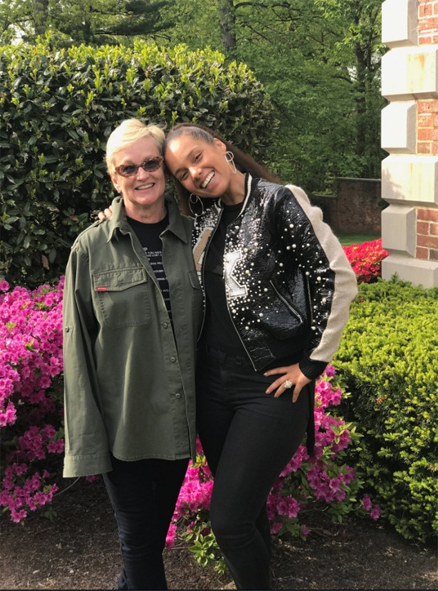 Alicia Keys  Mother Terria from Stars Celebrate Mothers Day 2017  E News