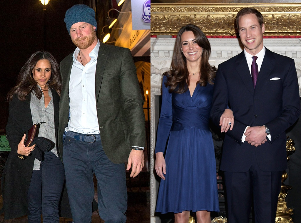 Meghan Markle, Prince Harry, Kate Middleton, Prince William