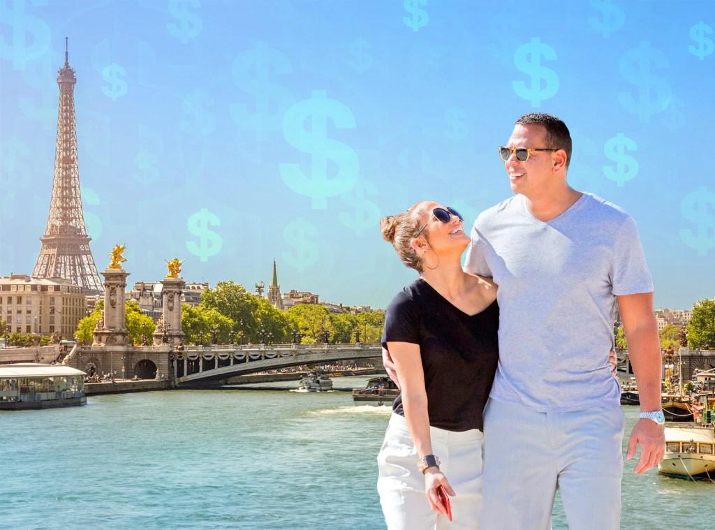 Jennifer Lopez, Alex Rodriguez, Cost of Paris Trip