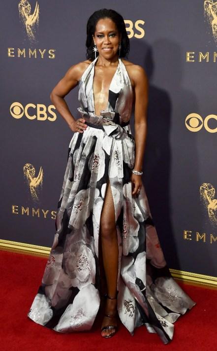 Image result for Emmy Awards Red Carpet 2017 Regina King