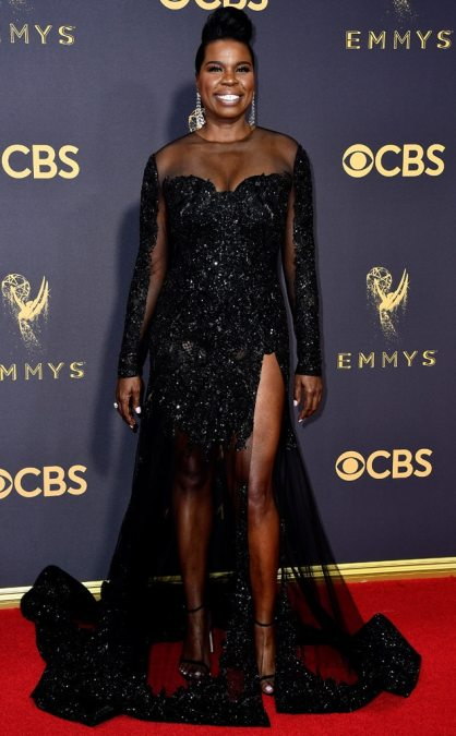 Image result for Emmy Awards Red Carpet 2017 Leslie Jones