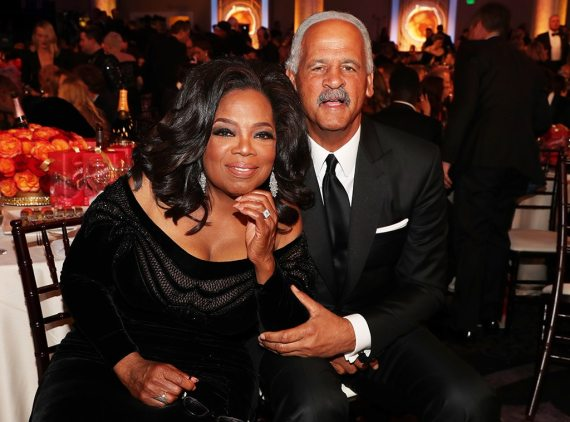 Oprah Winfrey, Stedman Graham, 2018 Golden Globe Awards