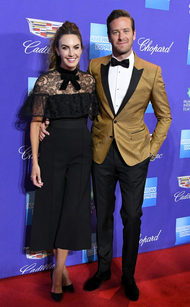 Armie Hammer, Elizabeth Chambers, Palm Springs International Film Festival Awards