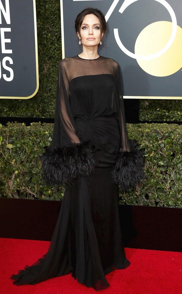 2018 Golden Globes Red Carpet Fashion Angelina Jolie, 2018 Golden Globes, Red Carpet Fashions