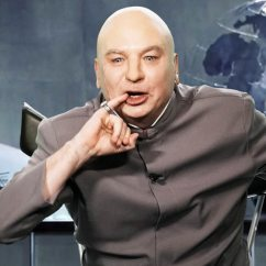 Dr Evil Chair Patterned Living Room Mike Myers Returns As To Announce Villain S Congressional Run E News