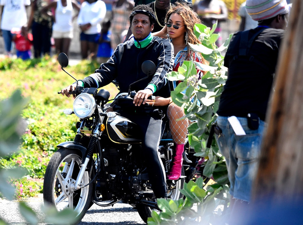 Image result for Beyonce and Jay-Z Take Motorcycle Ride Through Jamaican Streets