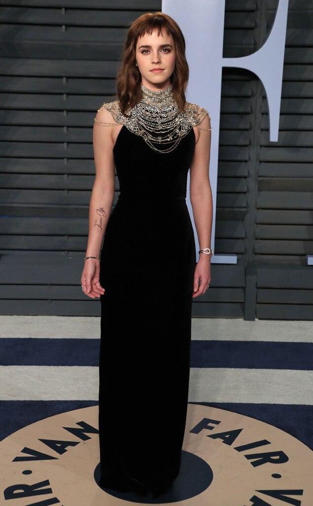 Emma Watson Debuts A Time S Up Tattoo At Vanity Fair S