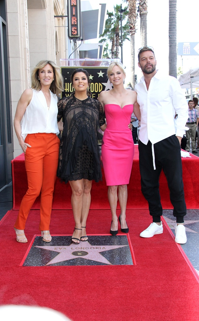 Felicity Huffman, Eva Longoria, Anna Faris, Ricky Martin, star, The Hollywood Walk of Fame
