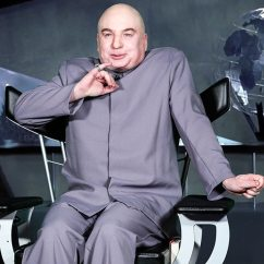 Dr Evil Chair Laptop Stand Mike Myers Revives His Role As On The Tonight Show E News