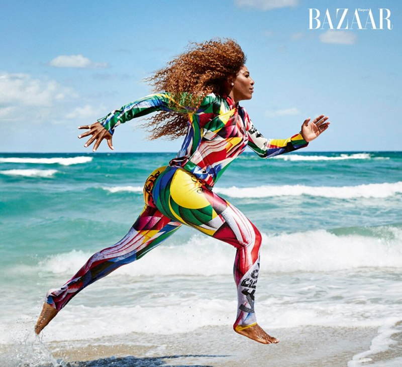 Serena Williams, Swimsuit, Harper's Bazaar U.K., Juy 2018