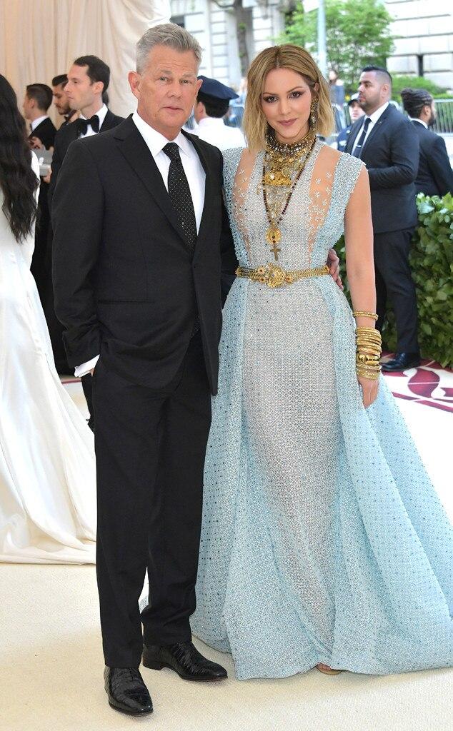 DAVID FOSTER & KATHARINE MCPHEE-Couples at the 2018 met gala awards