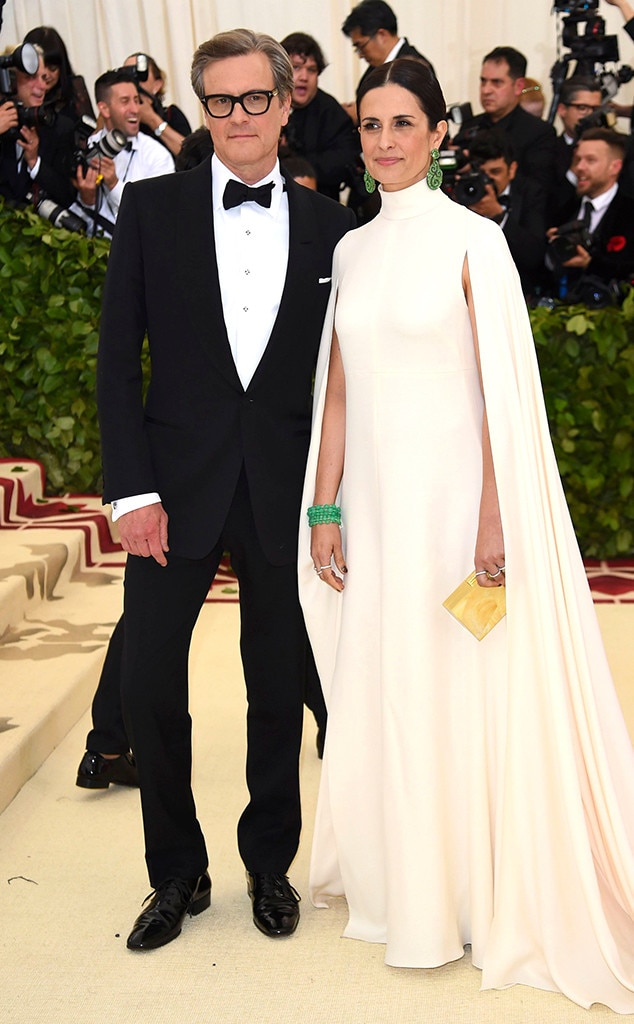 COLIN FIRTH & LIVIA GIUGGIOLI-Couples at the 2018 met gala awards
