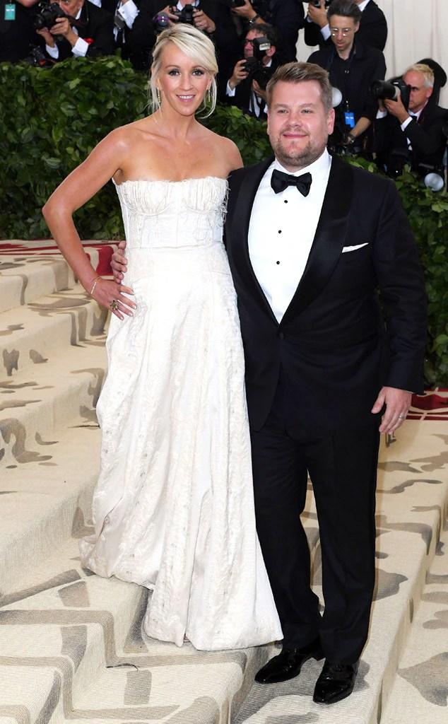 JAMES CORDEN & JULIA CAREY-Couples at the 2018 met gala awards