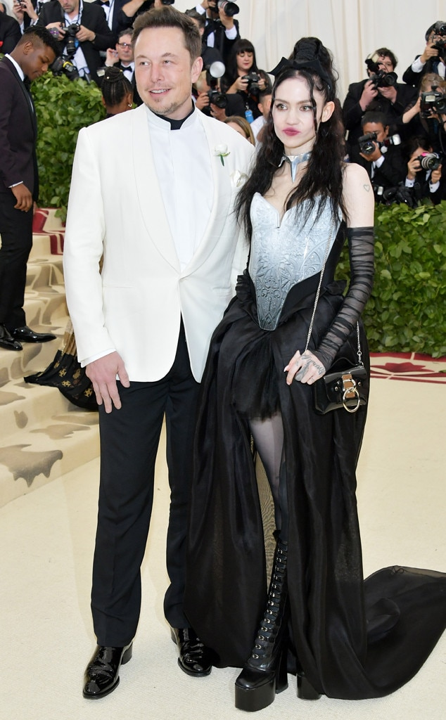 ELON MUSK & GRIMES-Couples at the 2018 met gala awrds
