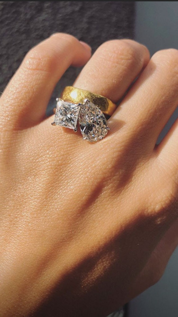See Emily Ratajkowskis Massive Engagement Ring for the First Time  E News Australia