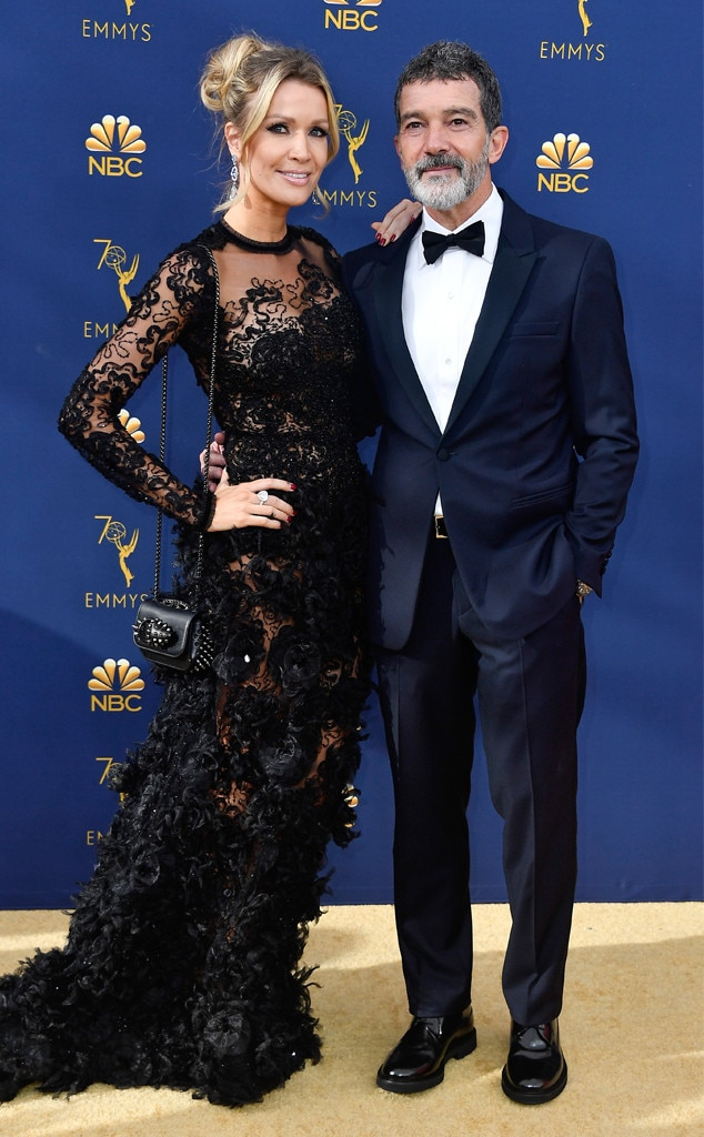 Antonio Banderas Nicole Kimpel From 2018 Emmy Awards