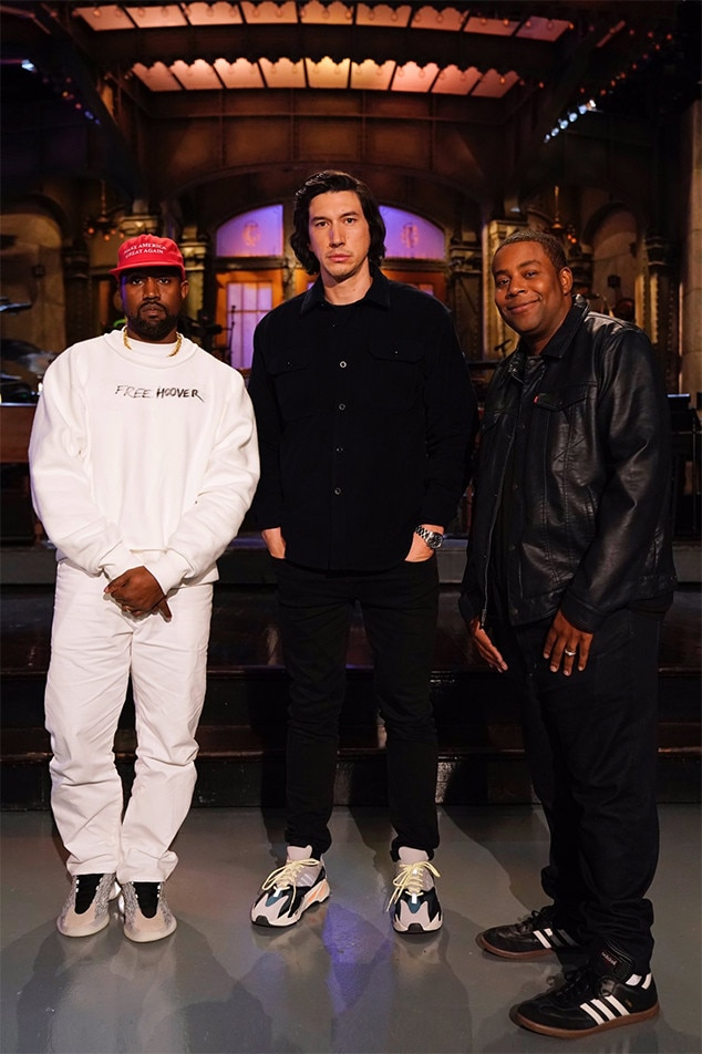 Kanye West, Adam Driver, Kenan Thompson, SNL