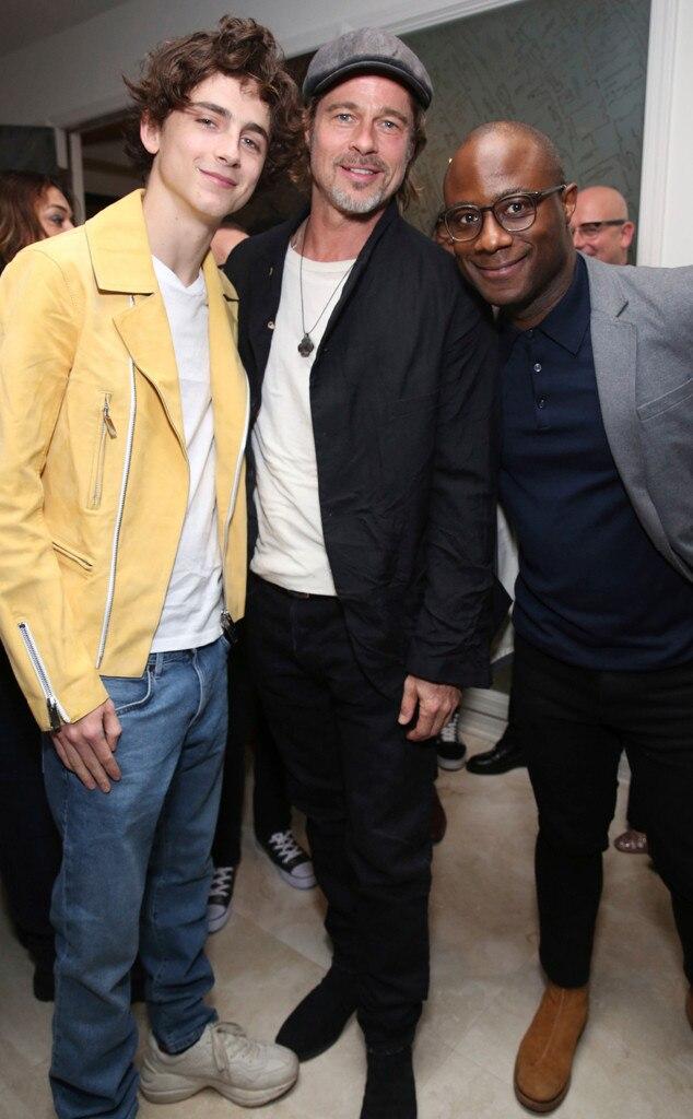 Timothee Chalamet, Brad Pitt, Barry Jenkins