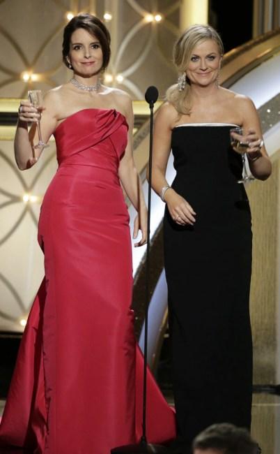 Tina Fey, Amy Poehler, 71st Annual Golden Globe Awards - Show