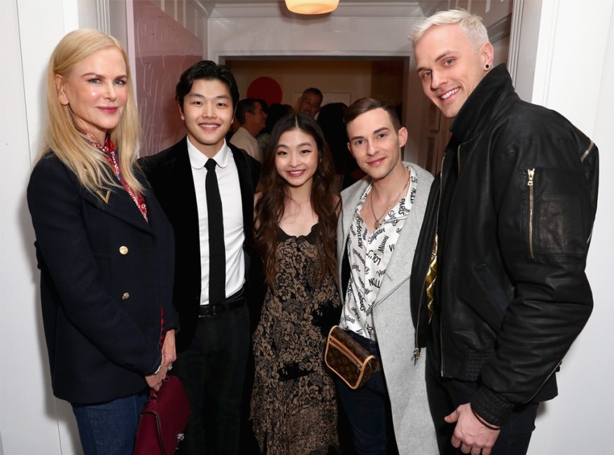 Nicole Kidman, Maia Shibutani, Alex Shibutani, Adam Rippon, Jussi-Pekka Kajaala, Gold Meets Golden 2019