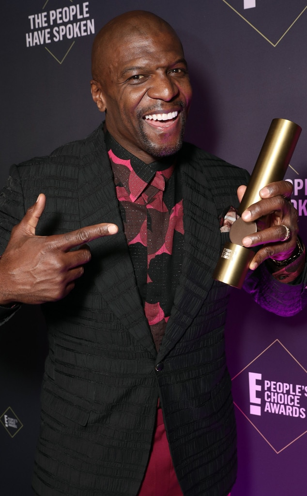 Terry Crews, 2019 E! People's Choice Awards, Backstage