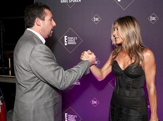 Adam Sandler, Jennifer Aniston, 2019 E! People's Choice Awards, Candids