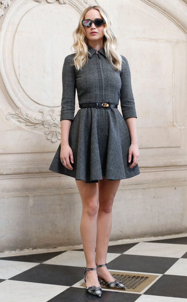 Jennifer Lawrence, Dior, Dior Arrivals Paris Fashion Week 2019