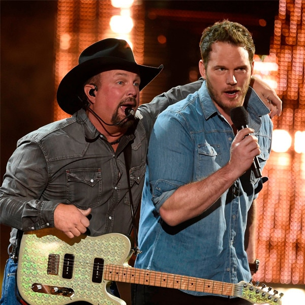 Garth Brooks, Chris Pratt, 2019 iHeartRadio Music Awards