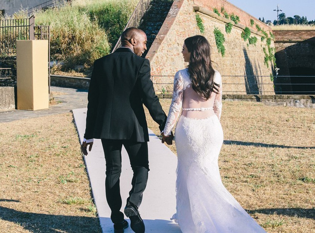 Photos From Kim Kardashian Kanye West S Wedding Album E Online