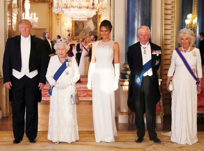 Image result for trump with queen