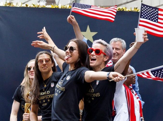 Alex Morgan, Megan Rapinoe, U.S. Womens Soccer Team, Ticker Tape Parade
