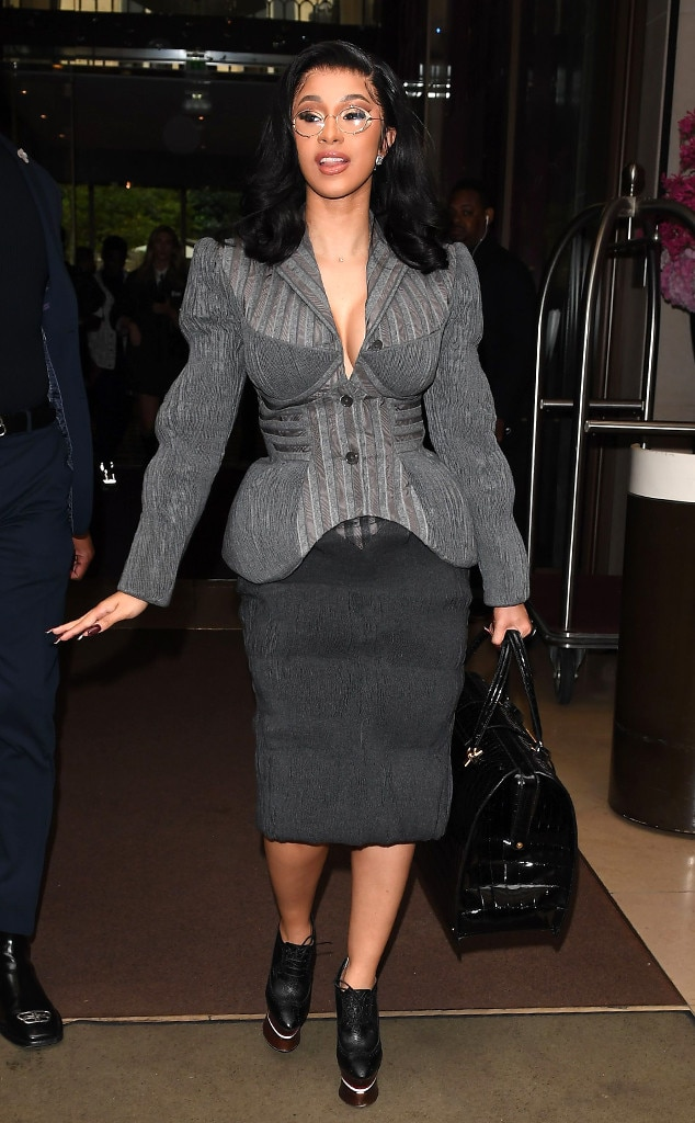 Paris Fashion Week Celebrities Sightings, Cardi B