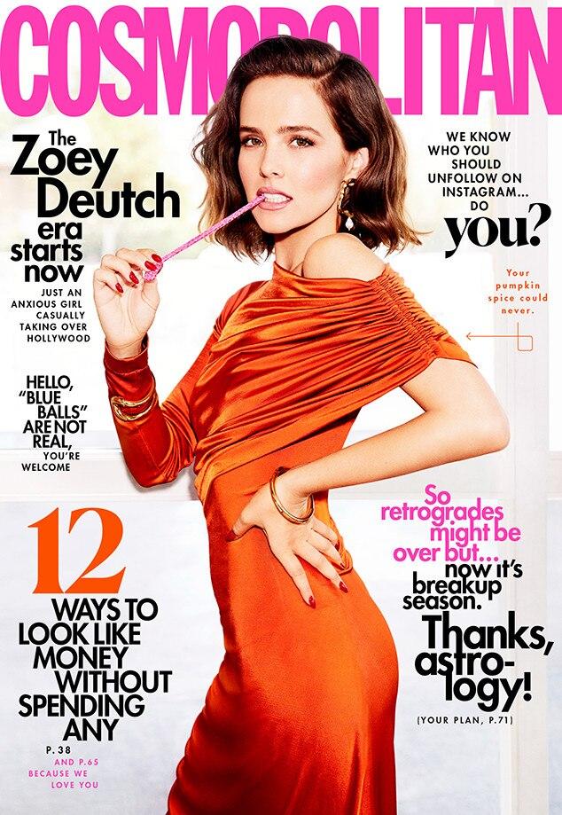 Zoey Deutch, Cosmopolitan Cover 2019