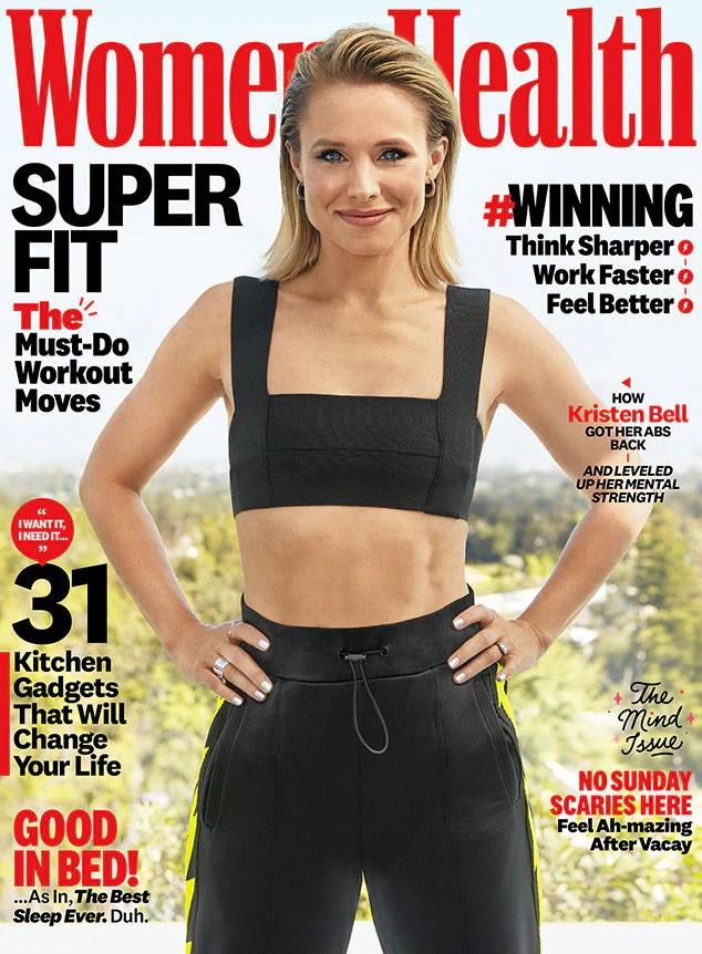 Kristen Bell, Women's Health, November 2019