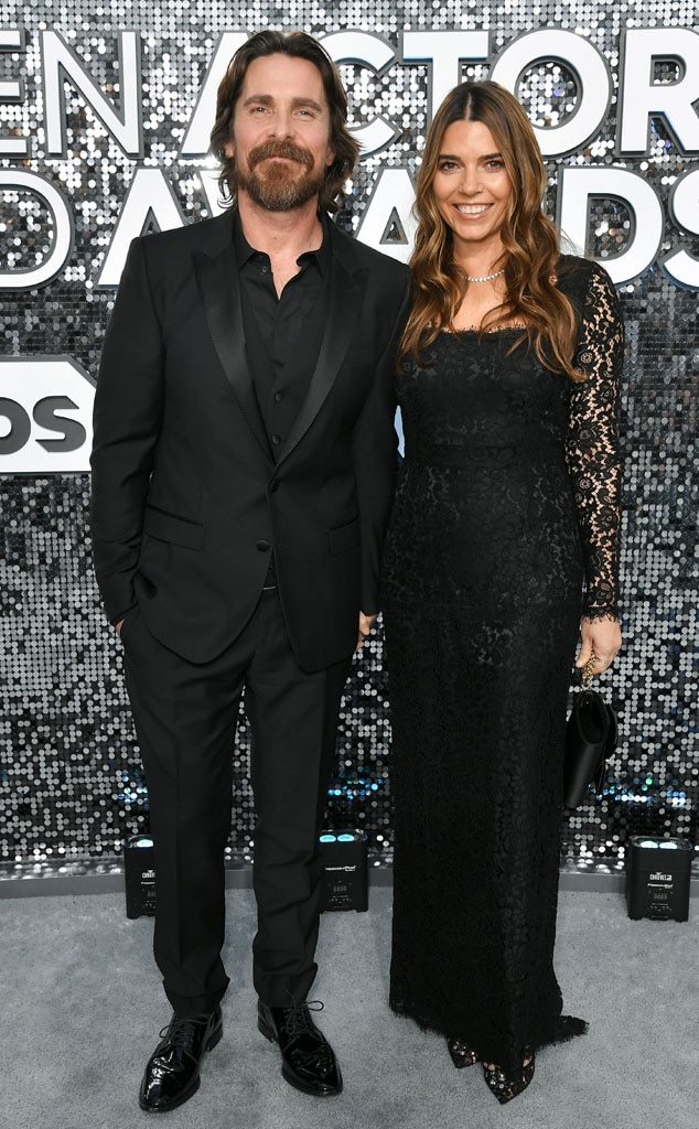 Christian Bale, Sibi Blazic, 2020 Screen Actors Guild Awards, SAG Awards, Couples