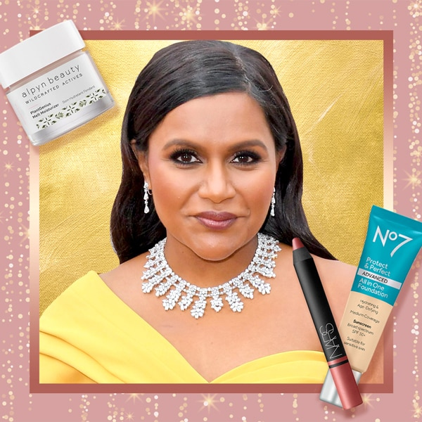 Get Mindy Kaling's Old Hollywood Glam Oscars 2020 Red Carpet Beauty