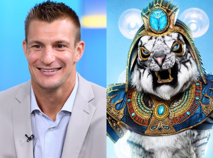 Rob Gronkowski and the white tiger, the masked singer