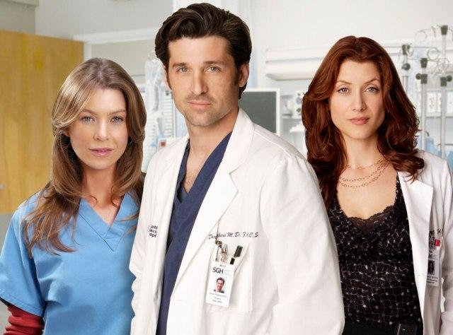 Ellen Pompeo, Patrick Dempsey, Kate Walsh, Grey's Anatomy